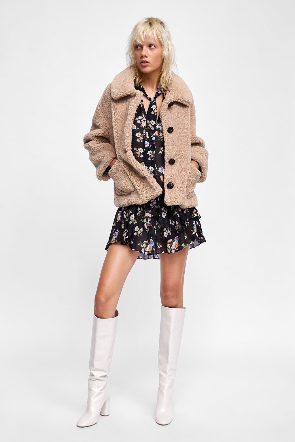 Image 1 de VESTE À DOUBLURE EFFET MOUTON de Zara   Fashion ... f3e90106c013