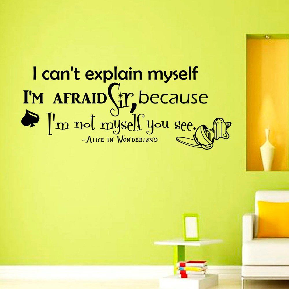 Wall Decals Vinyl Sticker I can\'t explain myself Sayings Quote Alice ...