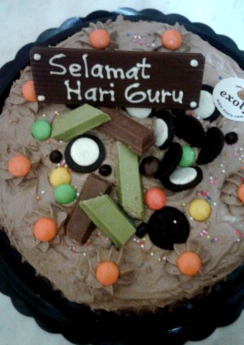 Brownies Kukus Selamat Hari Guru In 2019 Teacher Cakes