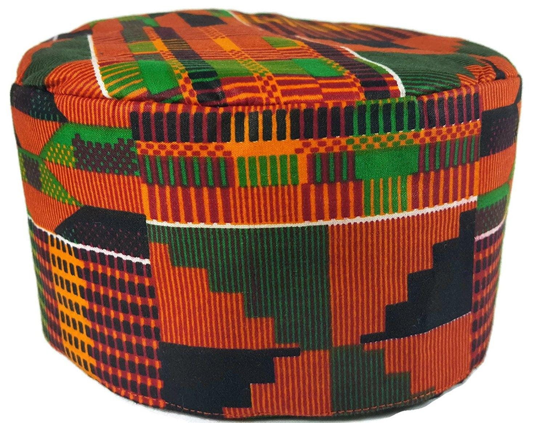 African Kente Kufi Women Dashiki Hat Men Cap Tribal Traditional Kofi Gold Maroon Cp12o6nxayl Hats For Men Man Cap Hat Designs
