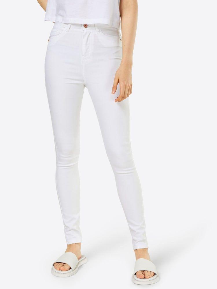 Noisy May Skinny Jeans In High Waist Damen Weiss Grosse 29 Skinny Jeans Und Weisse Jeans