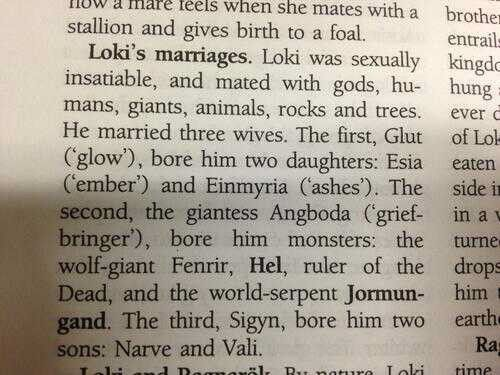Loki's marriages...