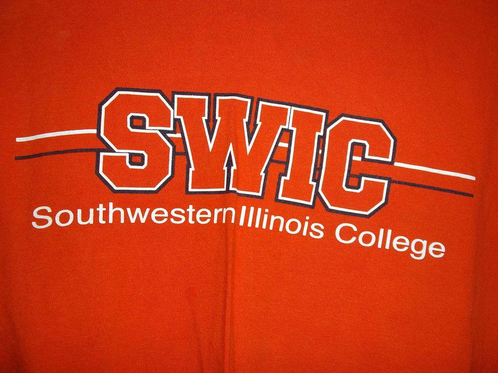 Southwestern Illinois College SWIC Champion Long Sleeved T-Shirt Orange 2XL XXL  #Champion #LongSleeve