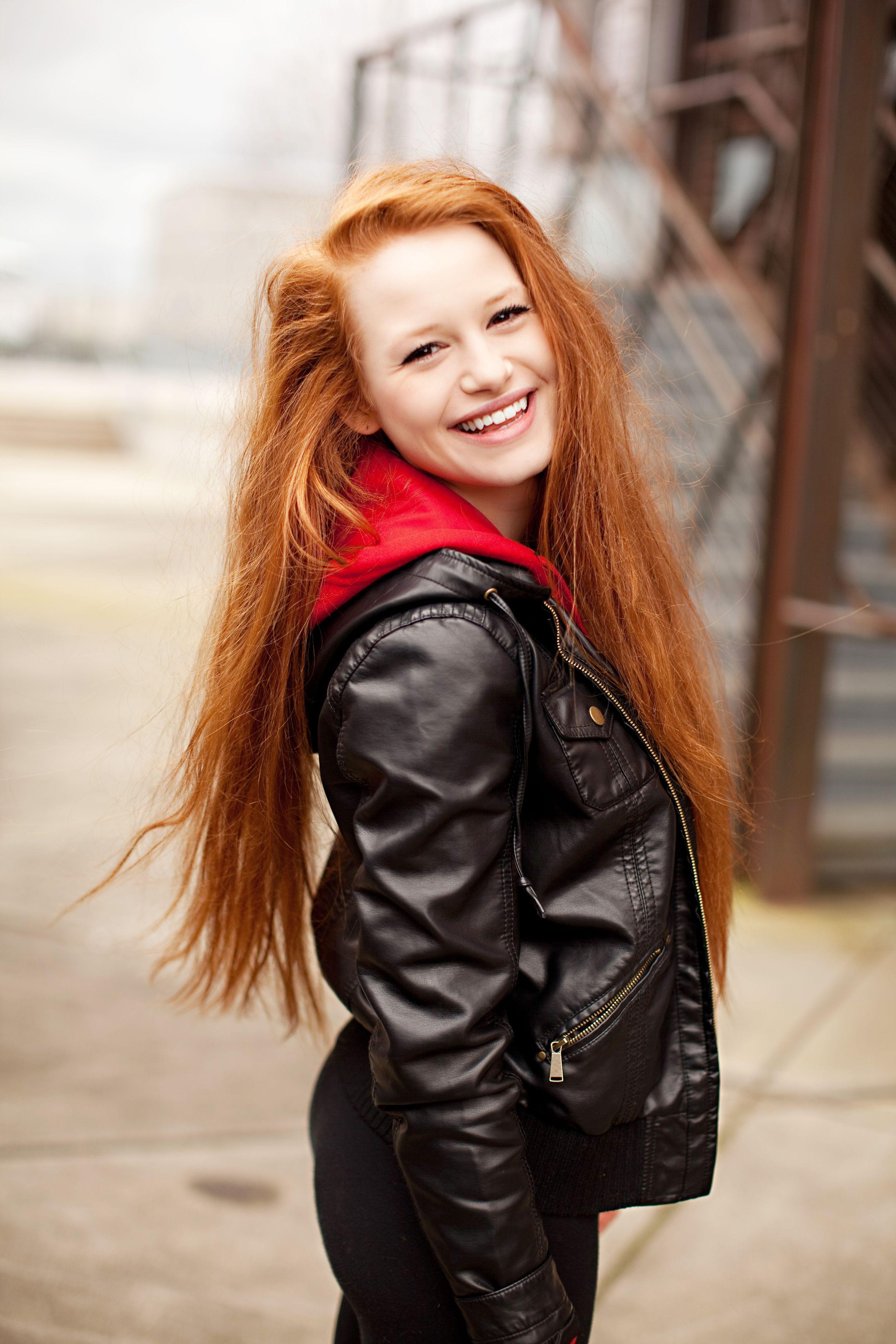 Natural redhead red hair girl