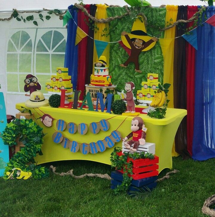 Curious George Birthday Party Decorations My Work Party