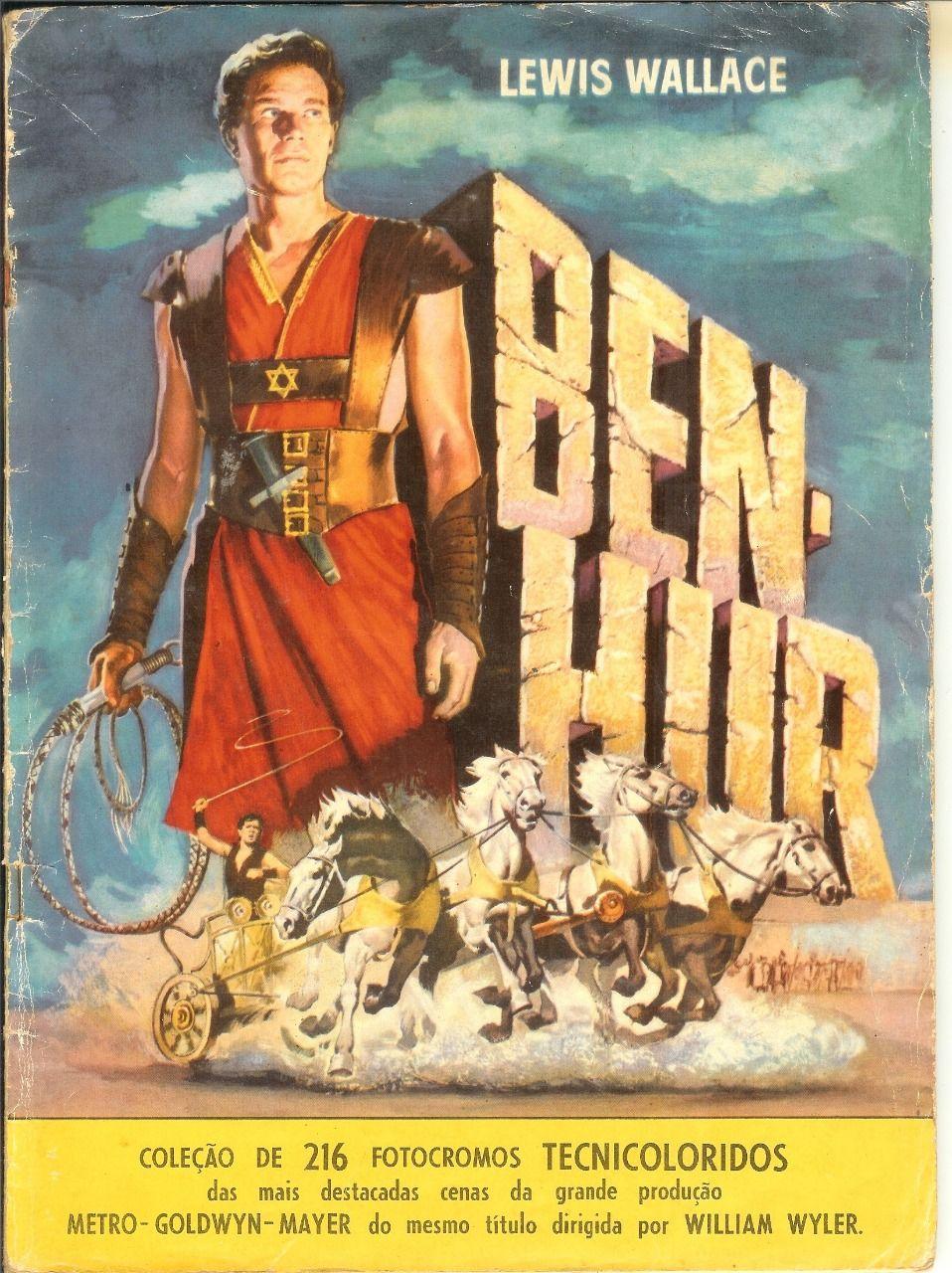 Álbuns de Figurinhas :: 70 ANOS DE GIBIS - Ben-Hur (O filme com Charlton Heston) em figurinhas de alto nível reproduzindo cenas do filme. Exemplar de meu acervo. #benhur1959