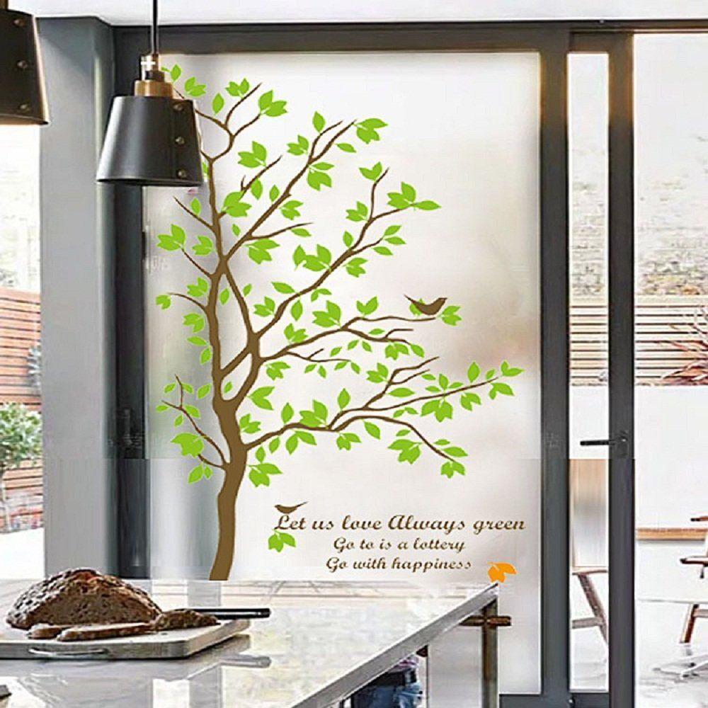 Amazon.com: Beyong Life Bird Green Tree Privacy Window Film Glass Stickers  Bedroom Bathroom