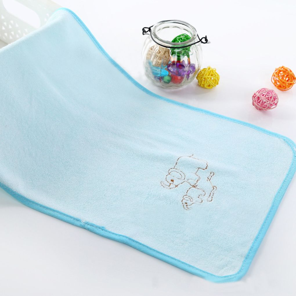 High quality cm bamboo fiber small towels with animal pattern
