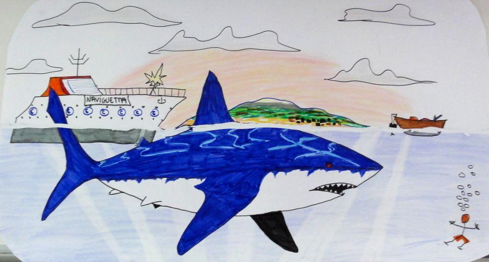 Coloriage Hugo Lescargot Requin.C Est Un Megalodon Un Requin Prehistorique Mesurant Jusqu A 20m