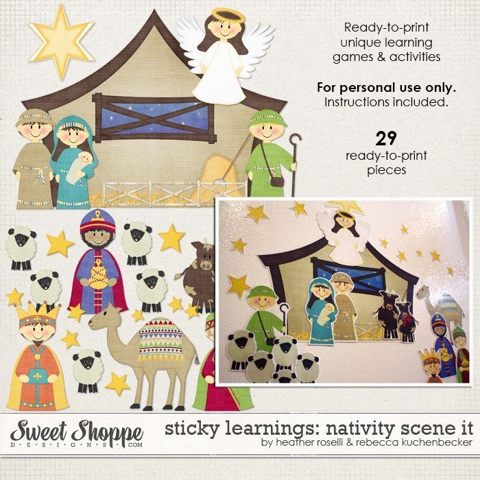 Sticky Learnings Nativity Scene It By Heather Roselli Rebecca