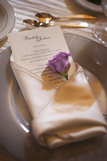 Nice touch in the napkin fold | Queen of Hearts Real Weddings ...