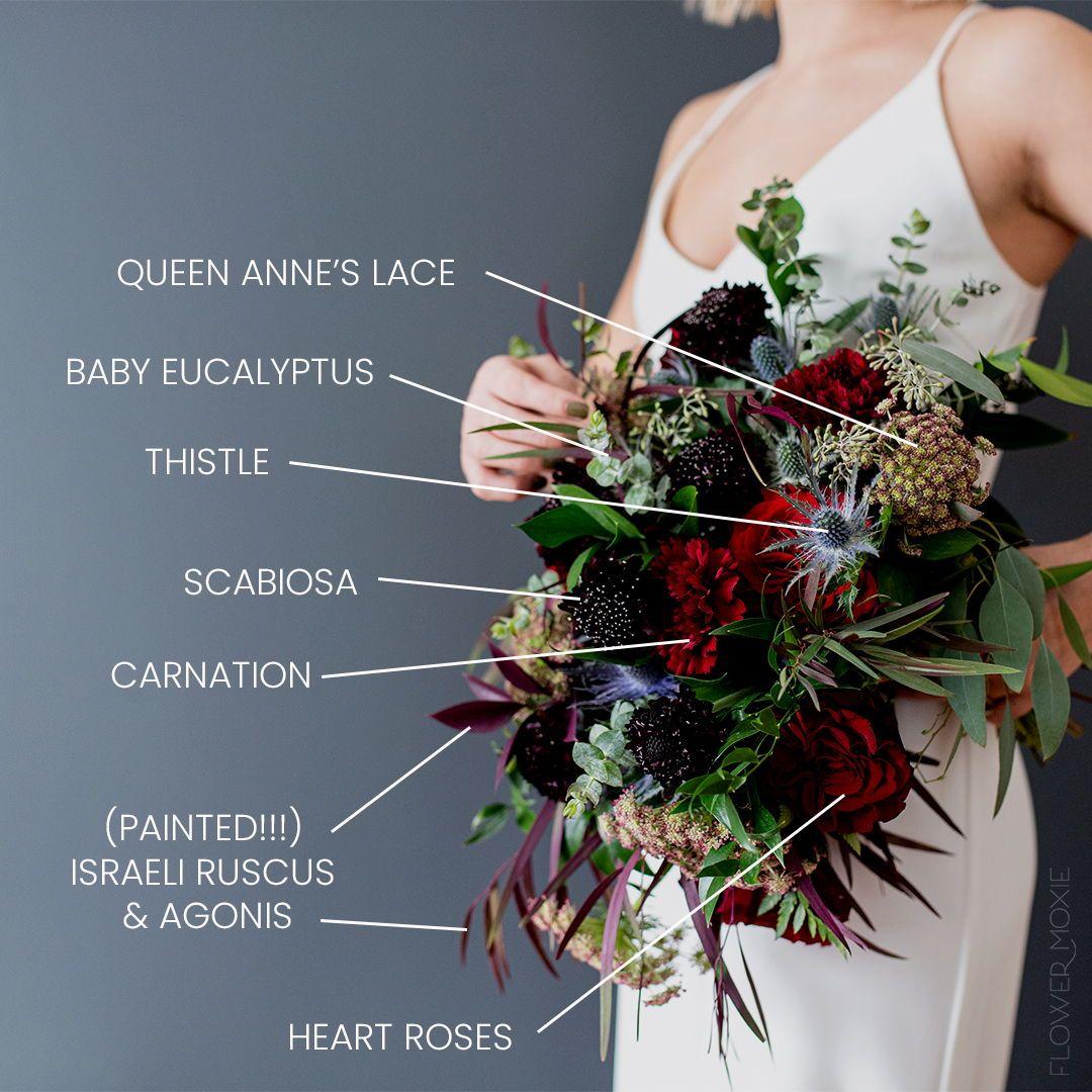 Moody Scarlet Diy Fresh Flower Wedding Packages Made Easy In 2020 Moody Wedding Flowers Wedding Flower Packages Bulk Wedding Flowers