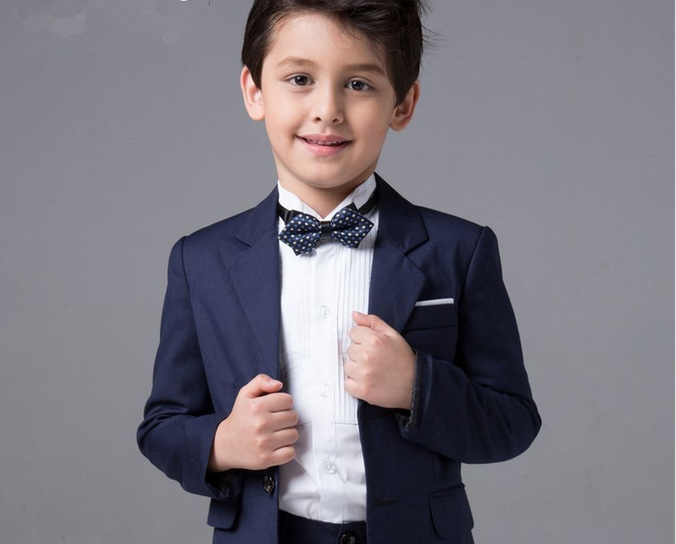 Buy Quality Suit Brooch Directly From China Dress Suppliers Boys Wedding Suits Baby Kids Blazers Skirts Pants Set Childern Clothes Blue