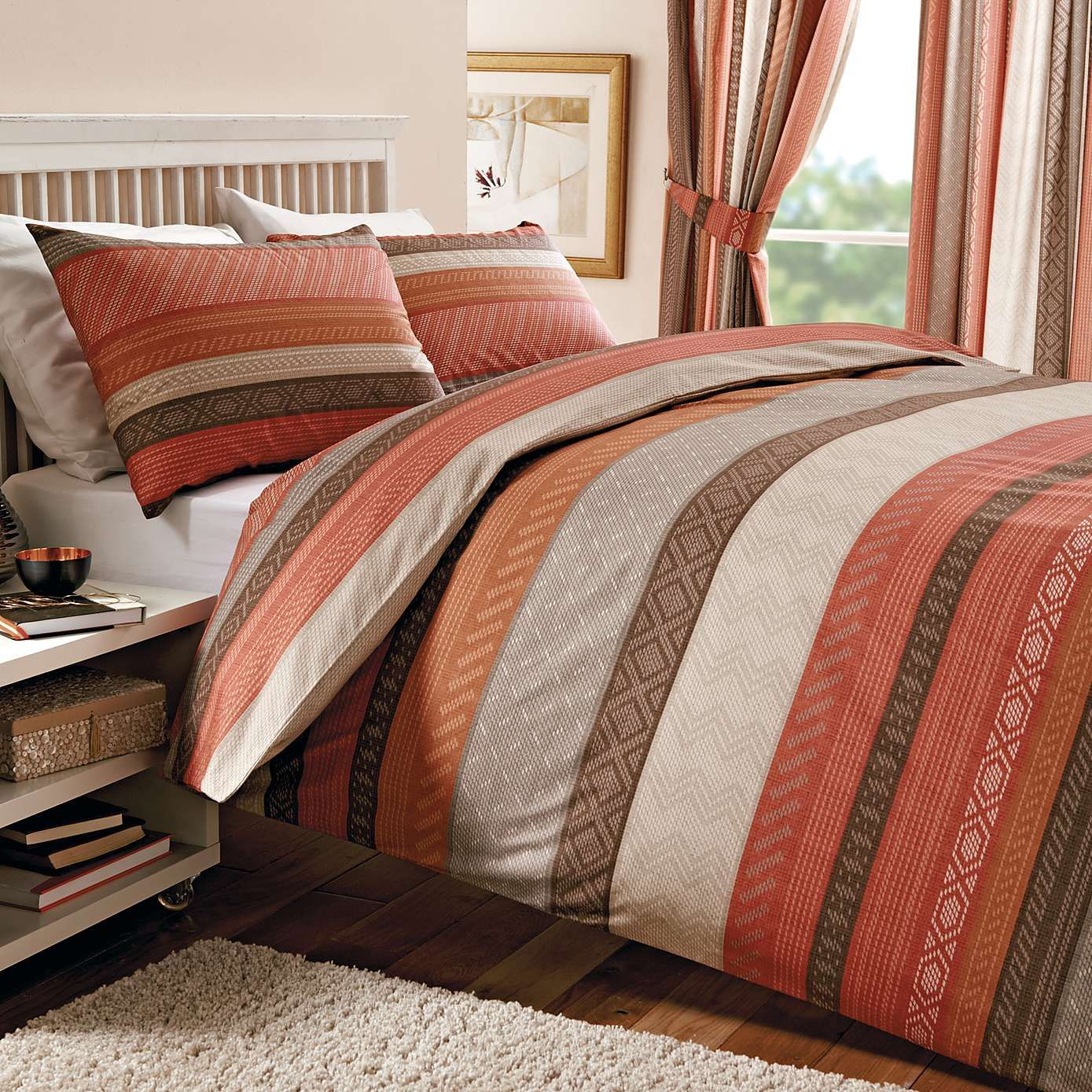 Terracotta Bedroom Designs: Terracotta Mizar Duvet Cover Set