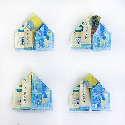 Geldscheine falten Schmetterling   selbstgemachte Geschenke