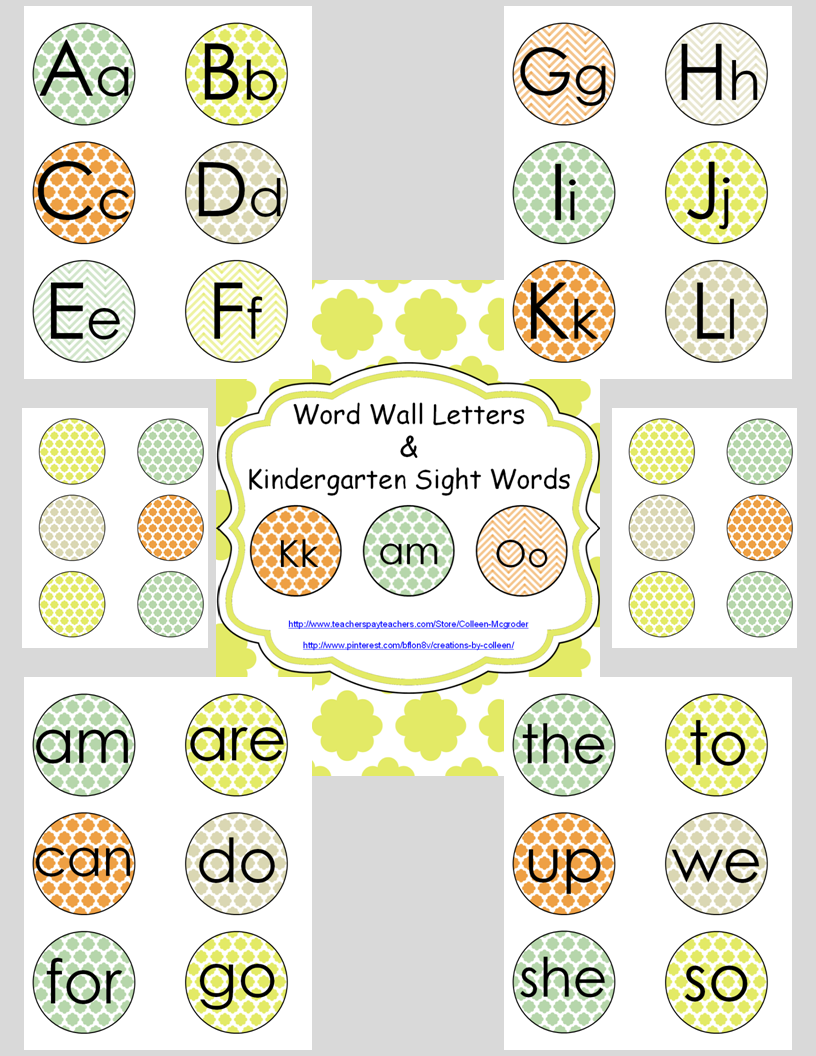 Word Wall Letters Enchanting Word Wall Letters & Sight Words In Quatrefoil Editable  Word Review