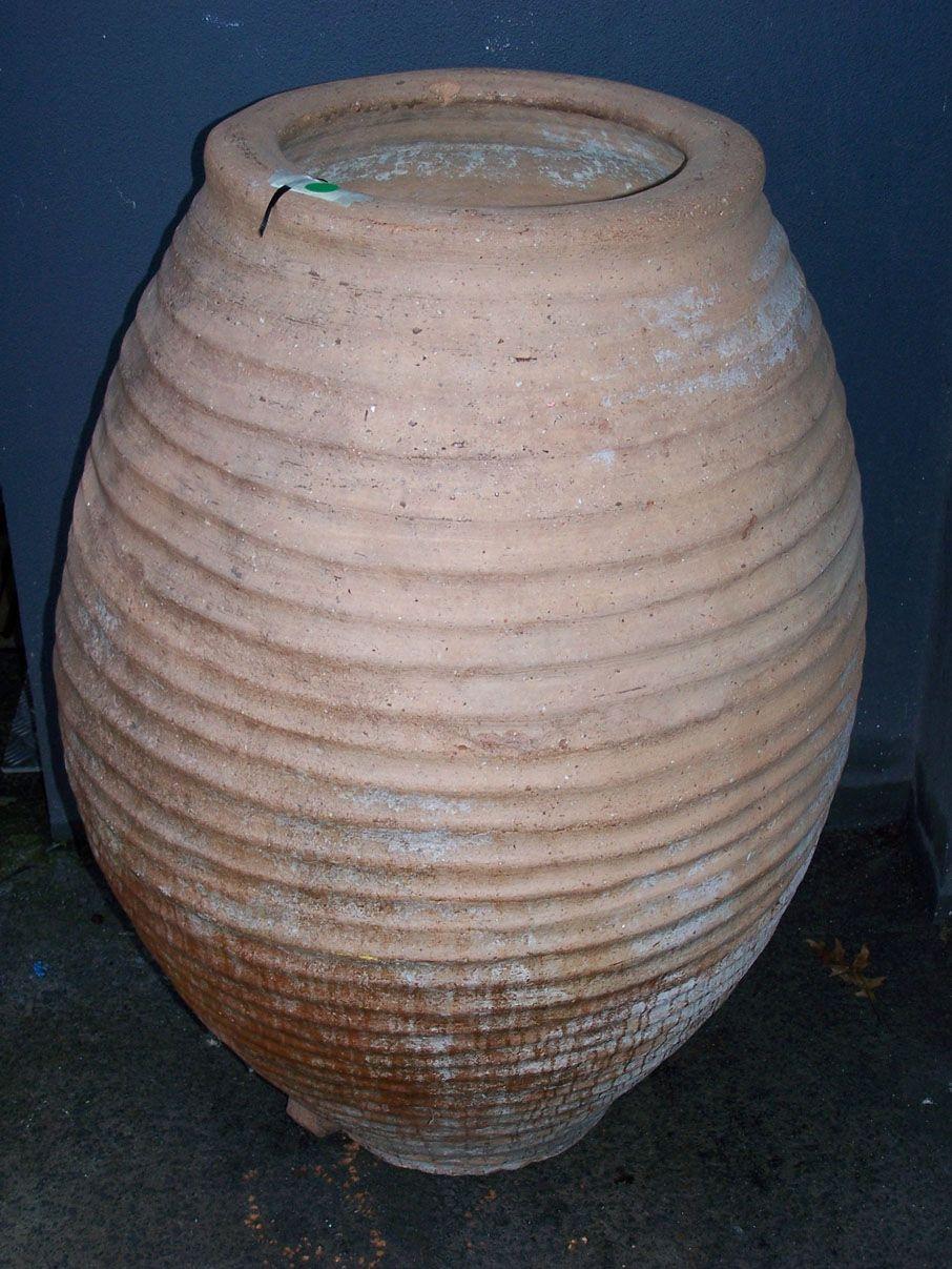 Antique Olive Oil Terracotta Pots