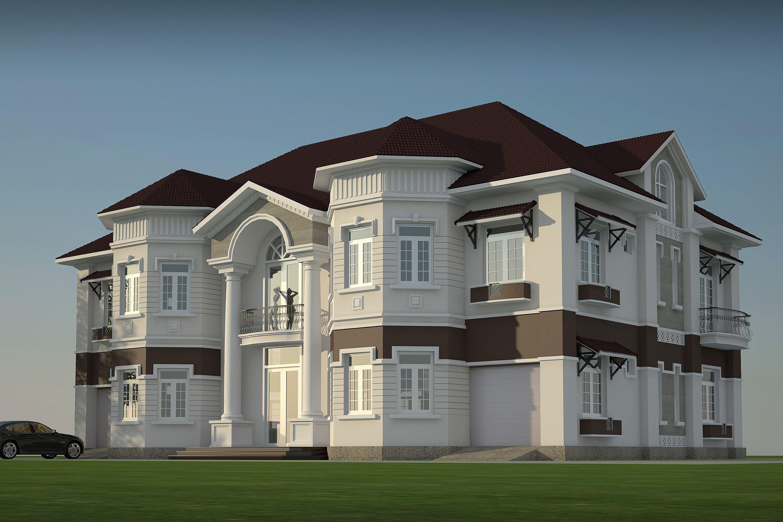 3d model villa 3d model