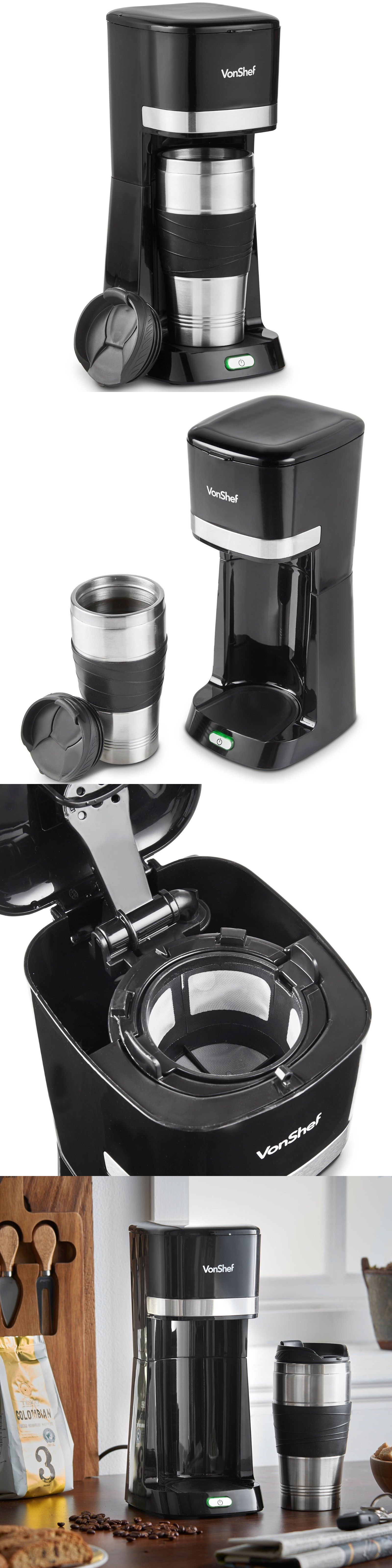 Filter Coffee Machines 184665 Vonshef One Cup Personal Coffee Maker
