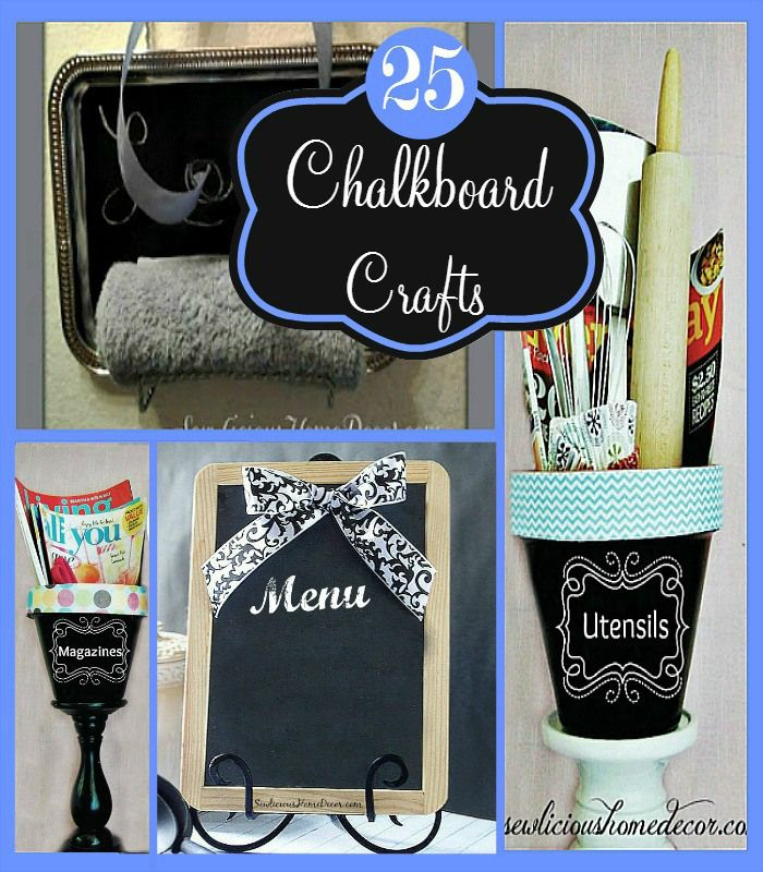 25 Diy Chalkboard Paint Craft Ideas Home Crafts And The