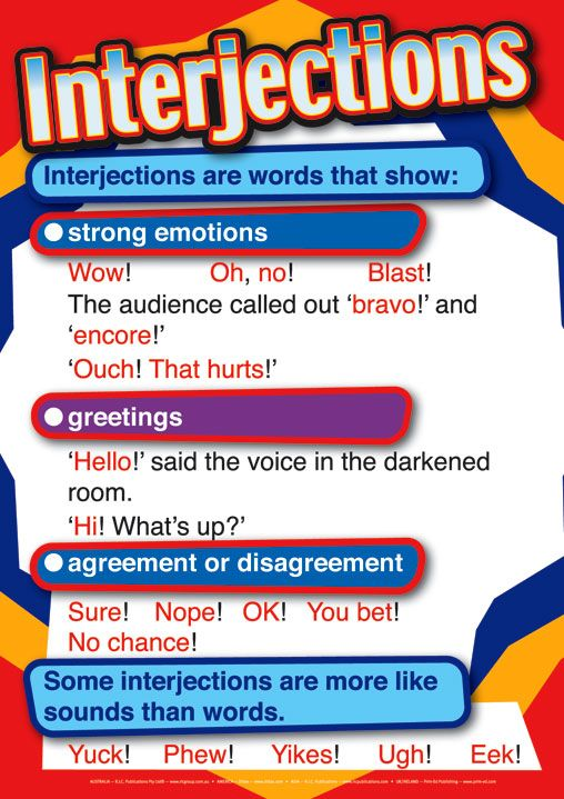 3 fun posters to inspire grammar lesson ideas interjections – Interjections Worksheet