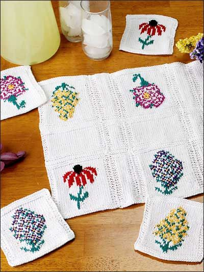 Floral Table Runner & Coasters - Decorate your table with this ...