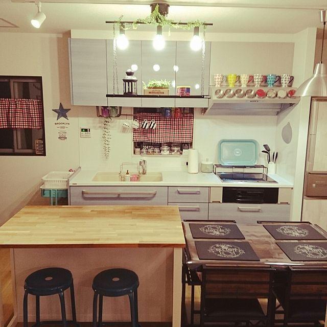 キッチン 100均 Ikea ニトリ Lb2 Projects などのインテリア実例
