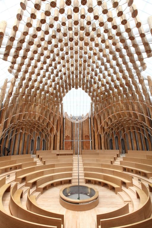 The Light of Life Church in South Korea by Shinslab architecture & IISAC #WoodLovers walls. Wood lovers