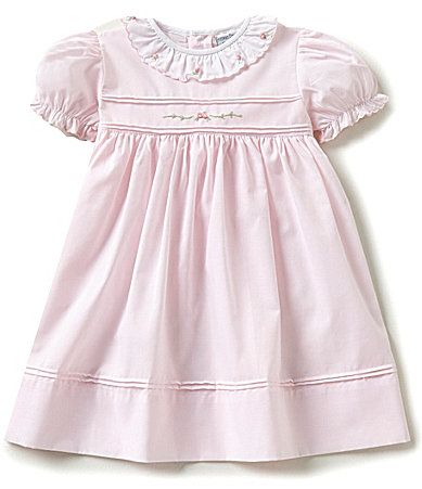 21b15aaf9832a Feltman Brothers Baby Girls 1224 Months Ruffled Scallop Rose Embroidered  Smocked Dress #Dillards