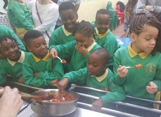 Princess May celebrate National School Meals Week