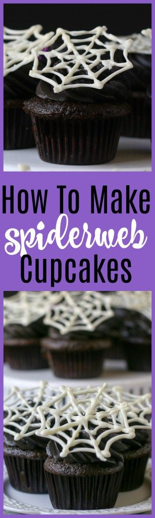 How To Make Super Easy Spiderweb Cupcakes Fun food, Cup cakes and - how to decorate cupcakes for halloween