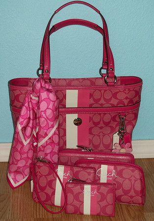 Coach purse matching set