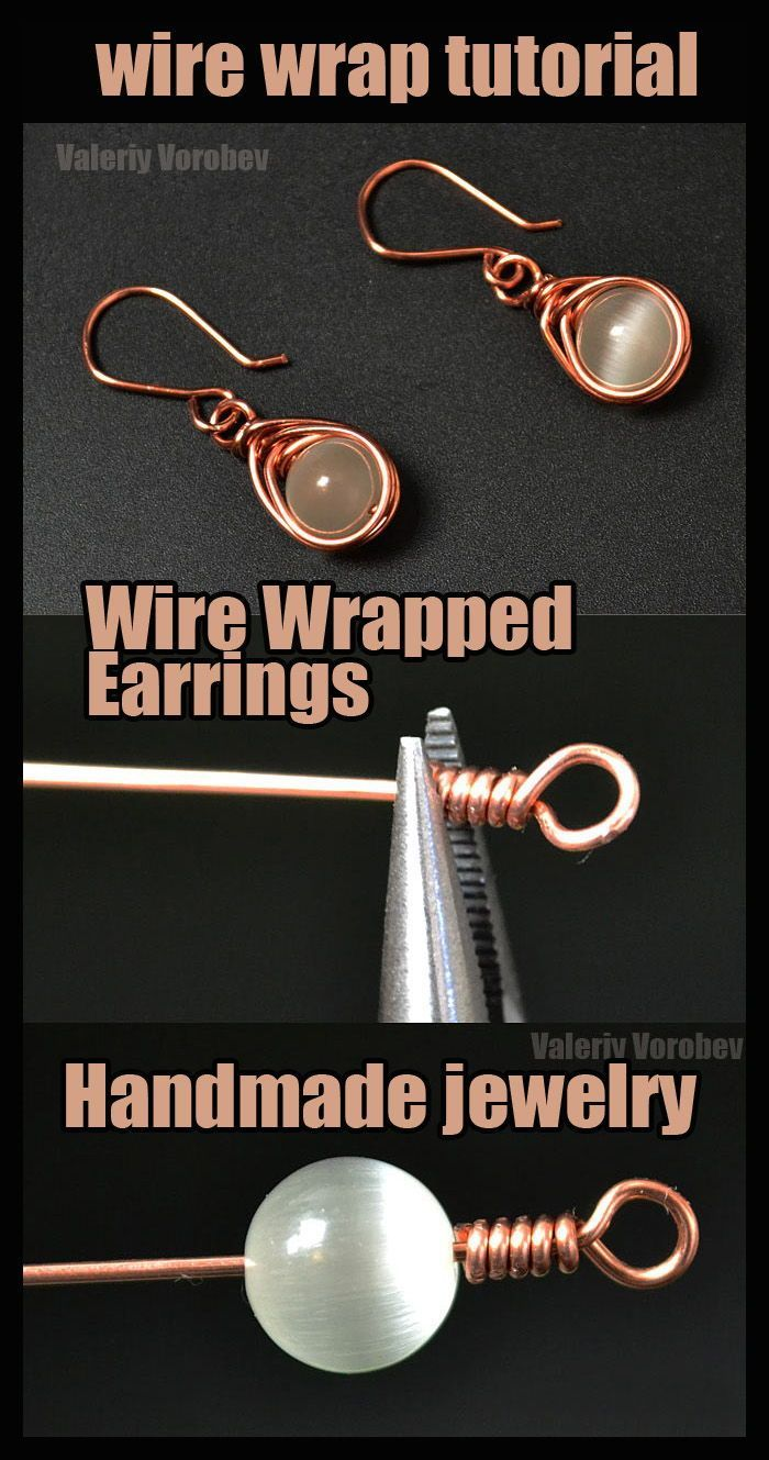 Wire wrapped jewelry. Jewelry making basics. How to Make Wire Wrapped earrings. Step by step wire wrap tutorial.Materials needed in DIY the easy wire wrapped earrings:A set of hand tools.Wire #wrapped #jewelry. #Jewelry #making #basics. #How #to #Make #Wire #Wrapped #earrings. #Step #by #step #wire #wrap #tutorial.Materials #needed #in #DIY #the #easy #wire #wrapped #earrings:A #set #of #hand #tools. #jewelry