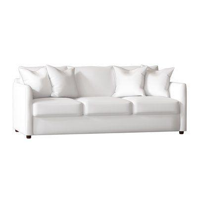 Allmodern Custom Upholstery Alice Sofa Body Fabric Tina Oyster Throw Pillow Fabric 1 Spinnsol Optic White Throw Pillow Fabric 2 Tina Oyster Pillow Fabric Upholstery Sofa