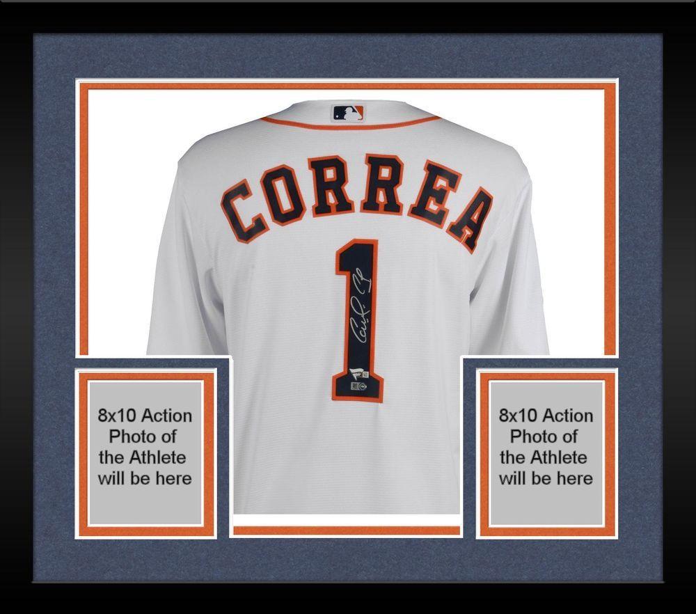 21e90e0a5 Autographed Carlos Correa Astros Jersey Fanatics Authentic COA Item 8511340