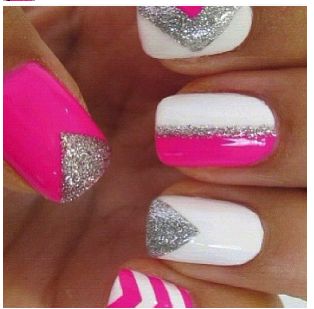 Images Of Hot Pink Sparkly Nails Spacehero