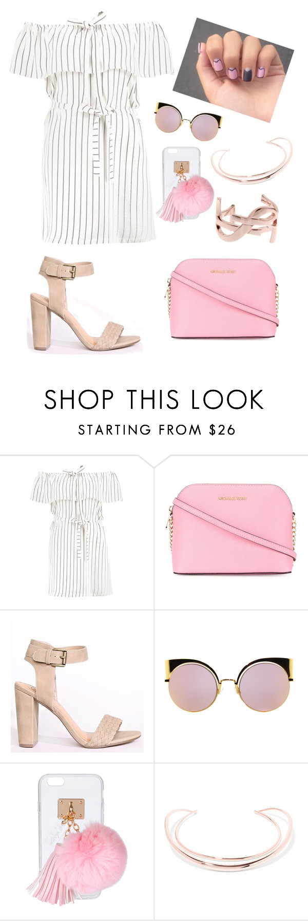 """First date💕"" by juliakhylko ❤ liked on Polyvore featuring Boohoo, MICHAEL Michael Kors, Fendi, Ashlyn'd, Ryan Storer and Yves Saint Laurent"