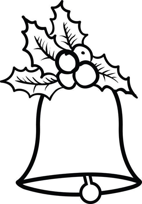 How To Draw Christmas Bell : christmas, Christmas, Bells, Drawing, Ideas, Bells,, Drawing,, Coloring, Pages