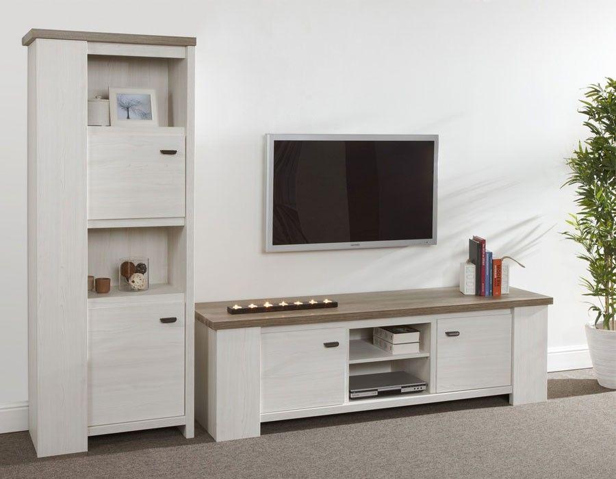 Meuble Tv Contemporain Coloris Chene Clair Reno Mobilier Design Mobilier De Salon Meuble Tv
