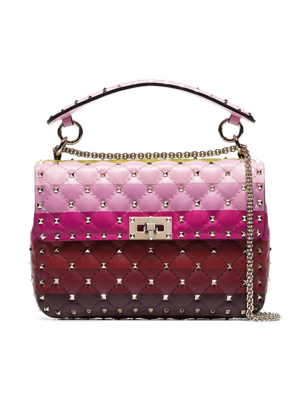 a5e8827be Valentino Stripe Panel Rockstud Spike Medium Shoulder Bag in 2019 ...