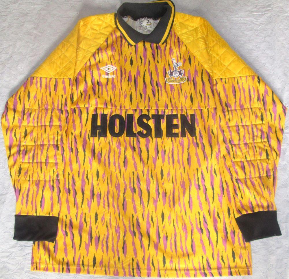 Rare 1991-92 Tottenham Hotspur Umbro Goalkeeper Jersey Size Medium 97-102cm ca171166b
