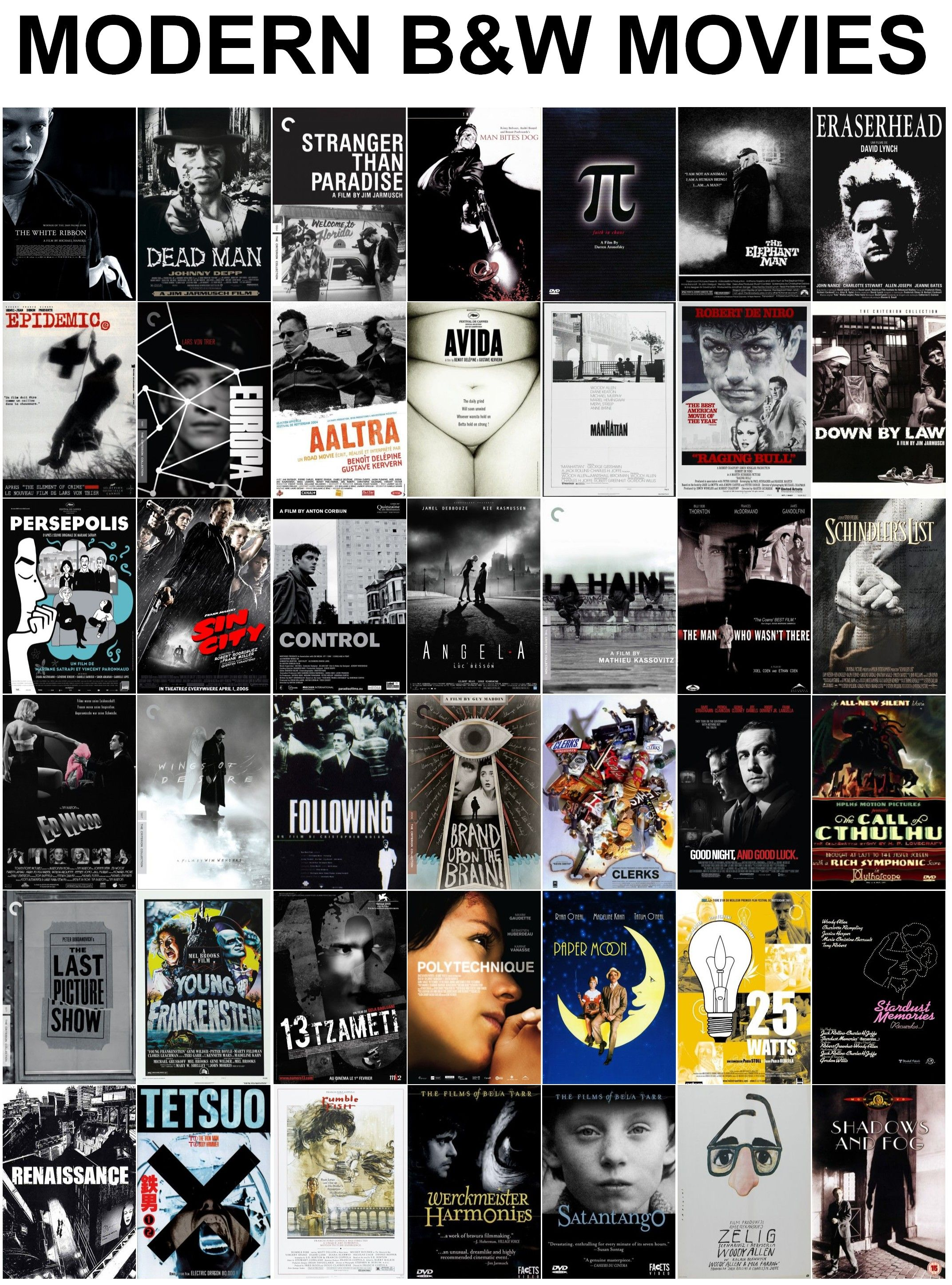 Modern Black And White Films Black And White Movie Good Movies To Watch Movies