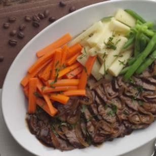 Coffee-Braised Pot Roast with Caramelized Onions Recipe