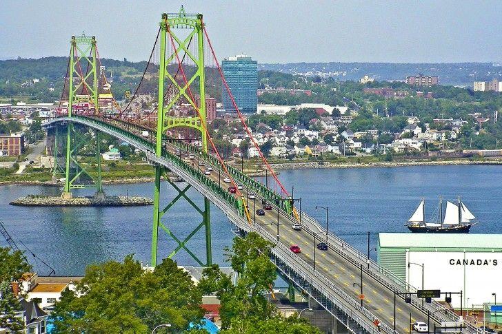 Angus L Macdonald Bridge In Halifax Nova Scotia Canada Nova