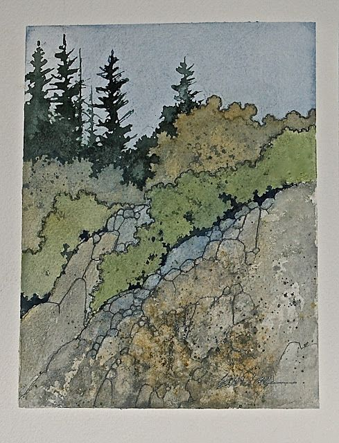 landschaften in aquarell in 2020  landschaftsbau