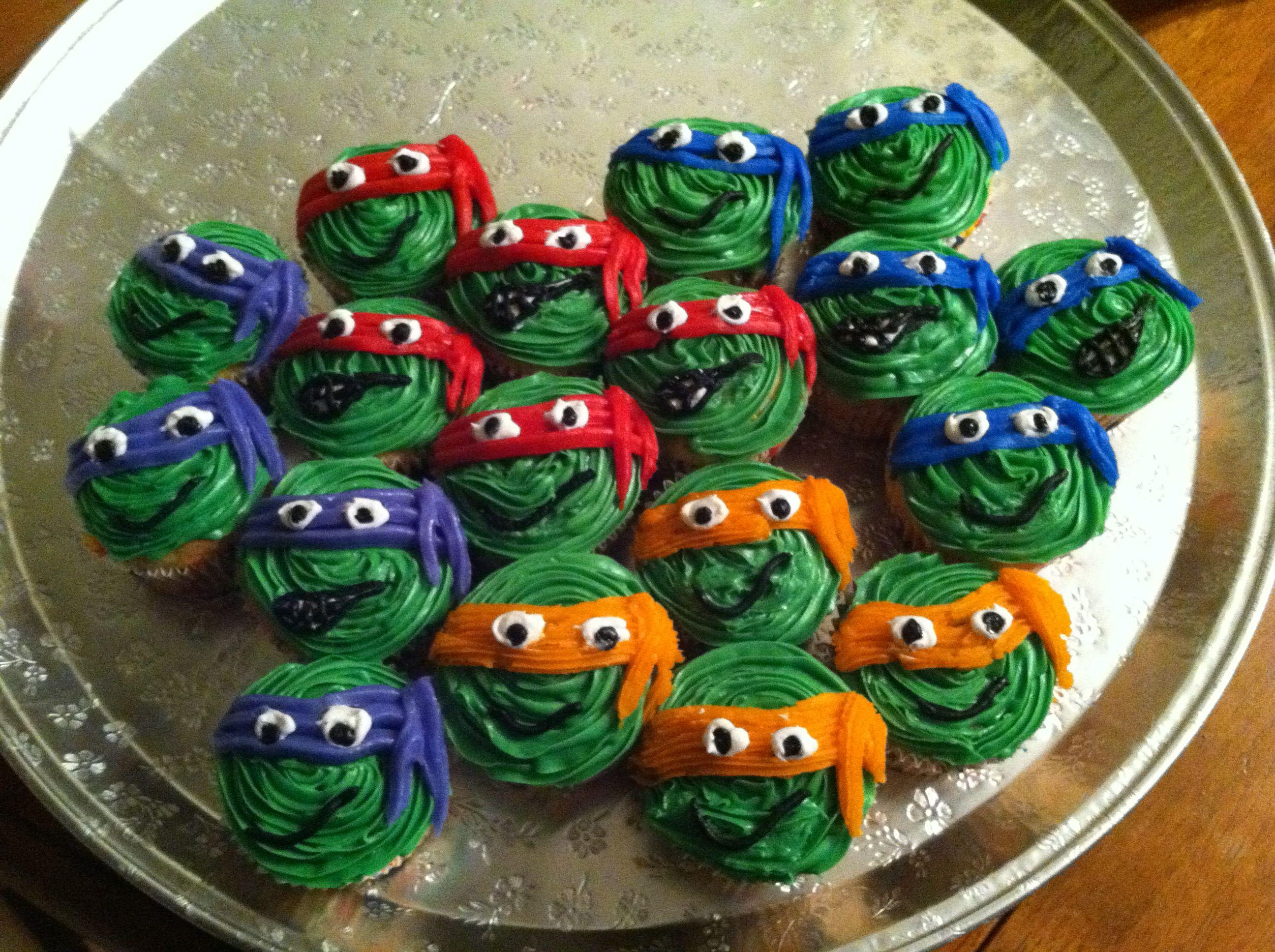 Ninja turtle cupcakes!