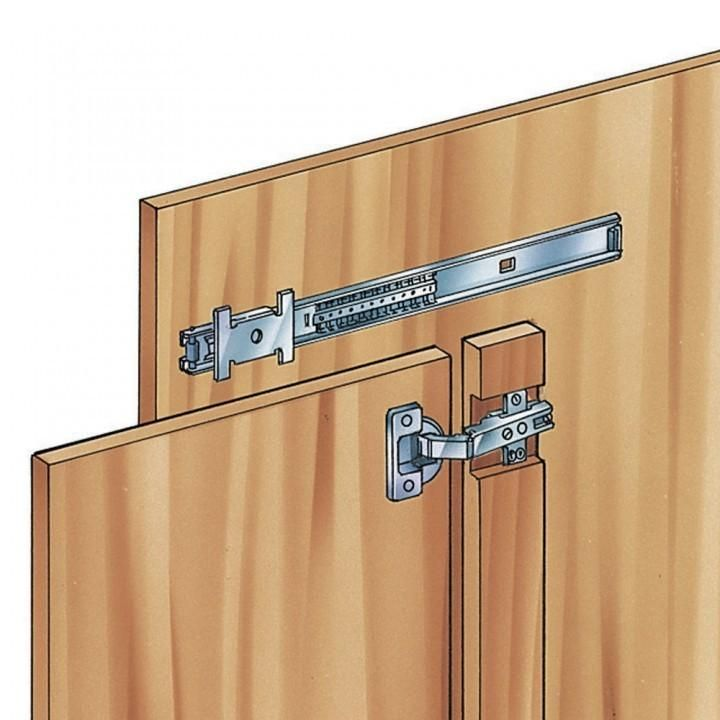 Inset 35mm Hinges for Medium Duty Flipper Door Slides