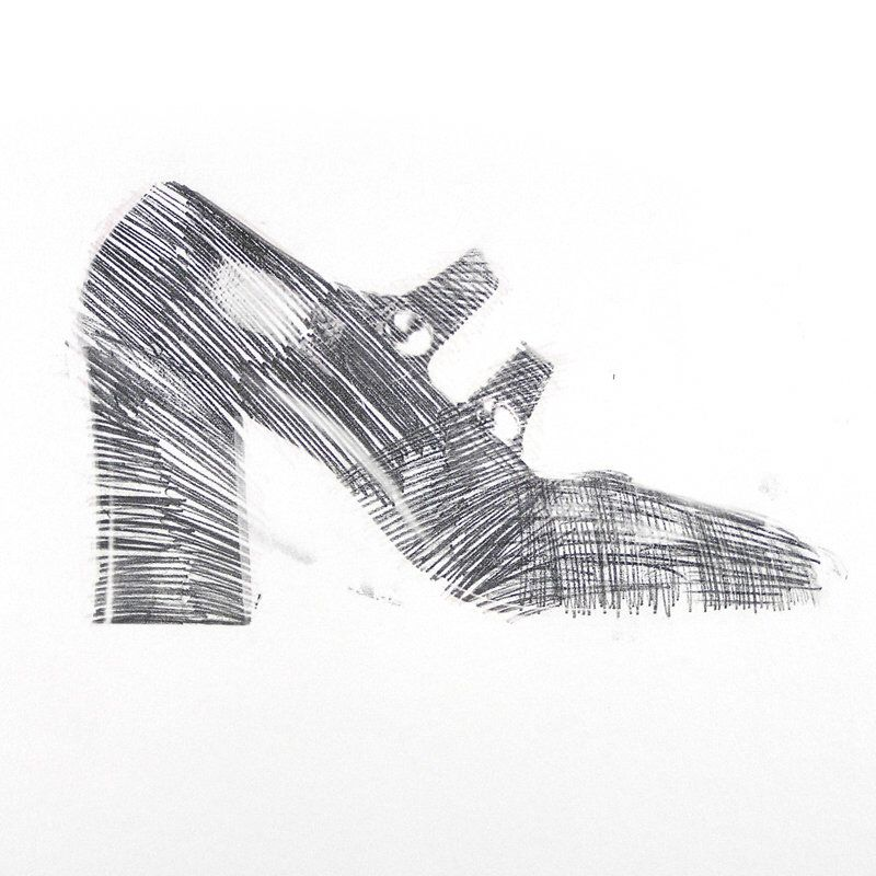 Vintage 1969 Shoe Drawing Mod Shoe Drawing Vintage Drawing Of Etsy Shoes Drawing Vintage Drawing Mod Shoes