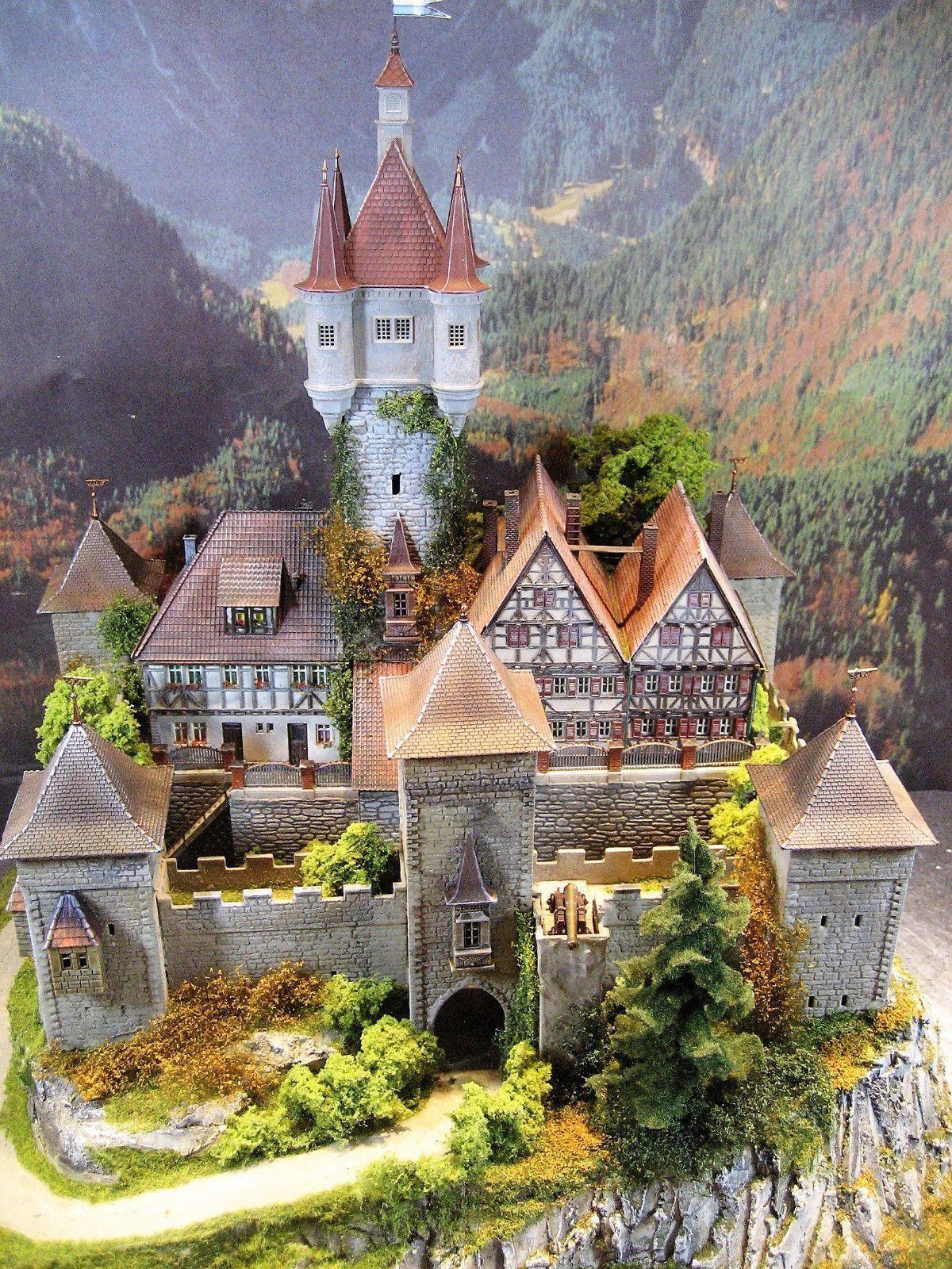 Diorama Schloss Burg Ravensburg Exclusivmodell In Modellbau Modelleisenbahn Spur H0 Ebay Mode Model Trains Model Castle Model Train Layouts