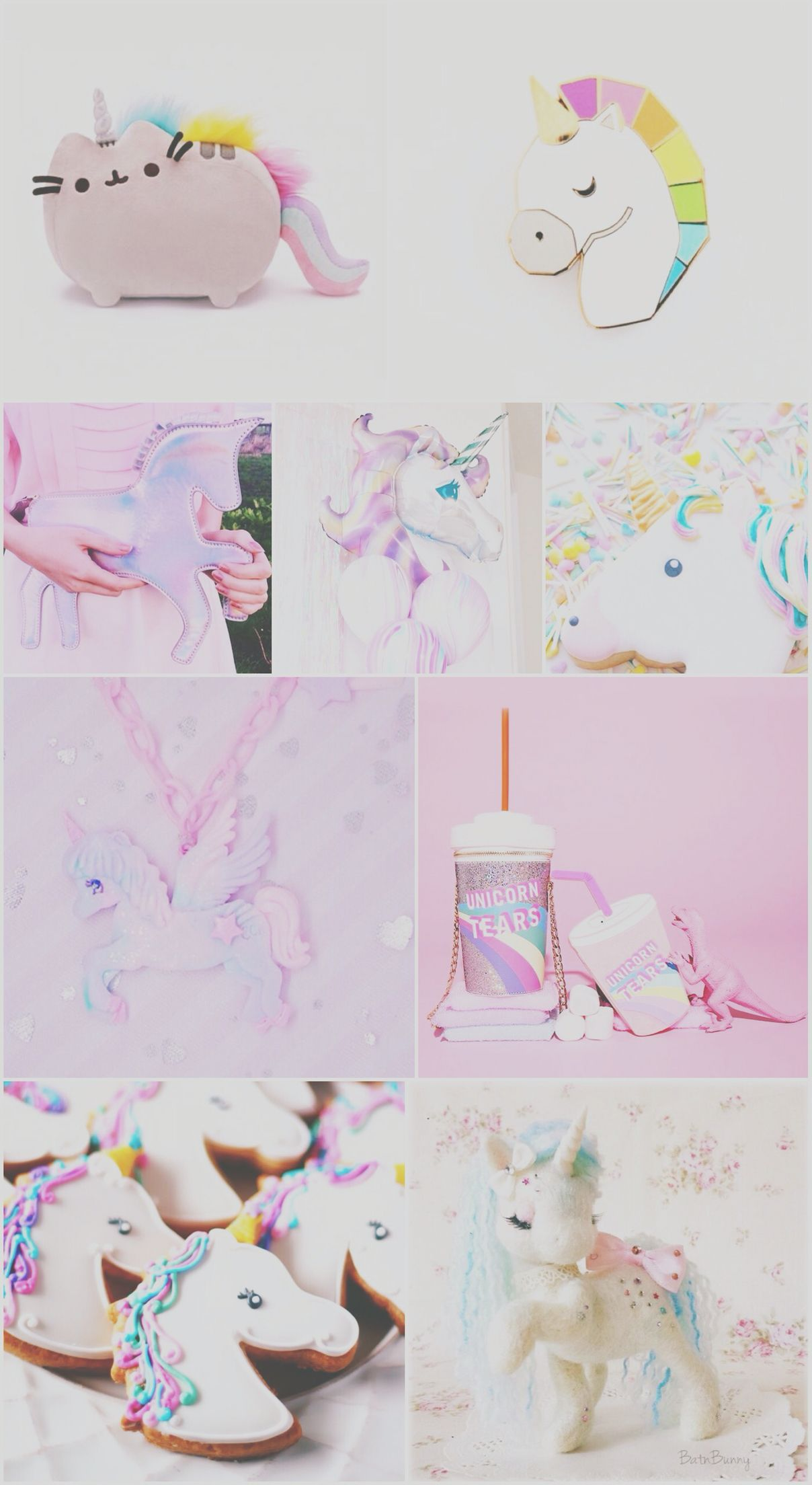 Unicorn Wallpaper Pretty Purple Pink Iphone Unicat Android